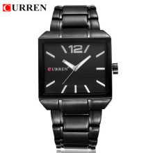 current mininalist square business watch ally case with stainless steel strap