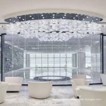 Modern Pendant Ceiling Lamps LED Glass Chandelier Lights Hanging Light Fixture for Meeting room