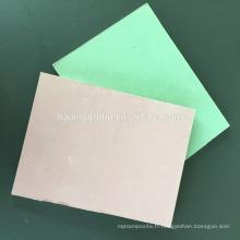 Planche de gypse à face de papier imperméable