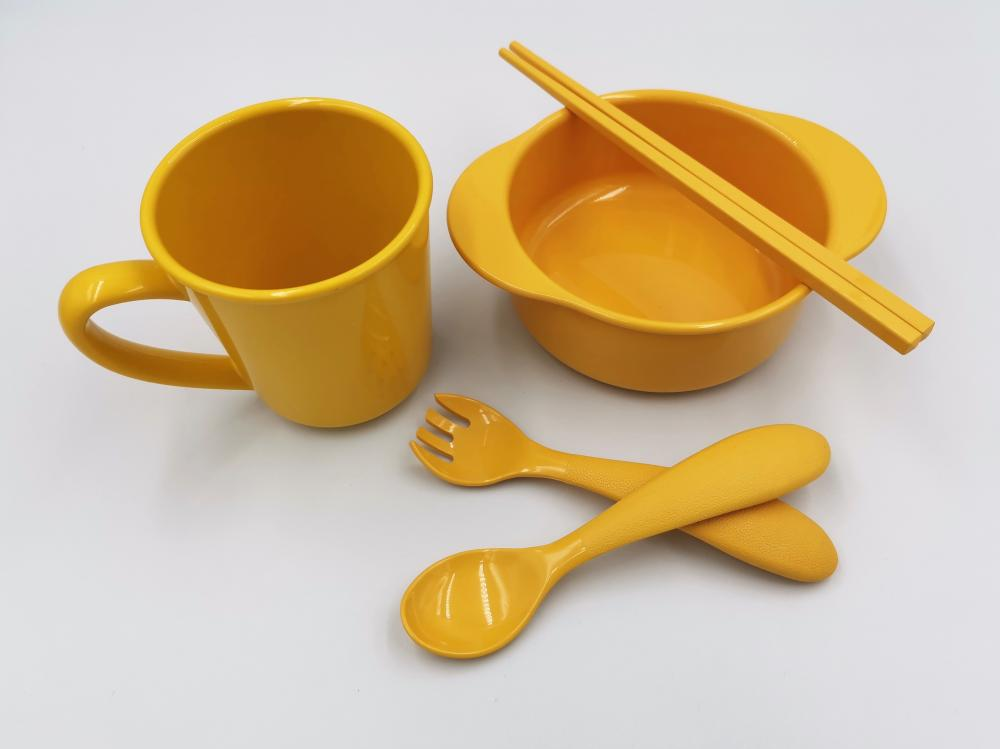 Cornstrach 5 Pieces Durable Tableware Set
