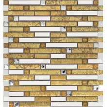 Stainless Steel Mix Glass Mosaic Tiles