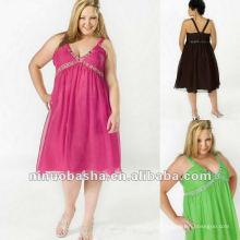 Шифон с бисером и Плиссированные Бюст вечернее платье 2012