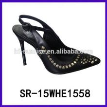 SR-15WHE1558 Mädchen-Absatz-Sandelholzmädchen späteste Absatz-Sandelholzart und weisedame-Kleidschuhe