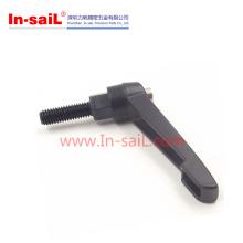 Black Metal 8mm M8 35mm Thread Machinery Adjustable Handles