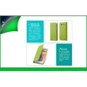 Eco-friendly Green Flip HTC Cell Phone Case ,  HTC Sensatio