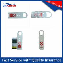 Titular de la etiqueta del andamio del plástico de la alta calidad / tarjeta de inserción