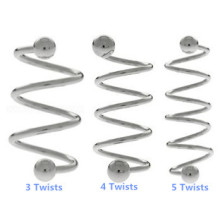 Steel Ear Cartilage Spiral Barbell with Twists