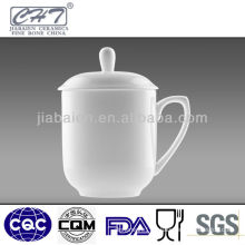 Transparent white meeting used bone china tea cup with hand