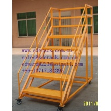 Warehouse Racking for Movable Ladder
