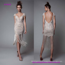 Sweetheart Neckline Sheath Cocktail Dresses with Tassels