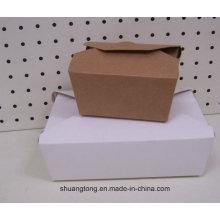 Papier Lebensmittel-Container Dessert Lebensmittel-Box Take Away Papier Lebensmittel-Box