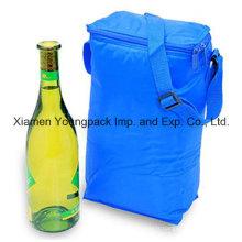 Sac de refroidissement isolé en tissu nylon 210d promotionnel pour vin