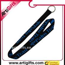 Cuerda de cordón Jacquard con hebilla de plástico y gancho de metal