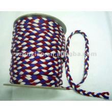 cotton/nylon flat braided cord