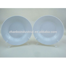 "8"" white porcelain soup plates"