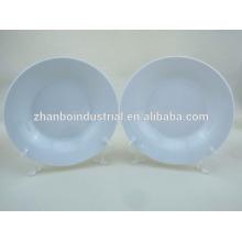 """8"""" white porcelain soup plates"""
