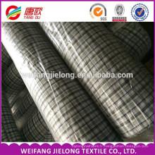 Fil teinté shirting tissu en gros pour les hommes chemise 65% polyester 35% coton plaine fil teint Shirting tissu
