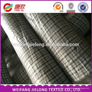tela teñida al por mayor del teñido del hilado para la camisa de los hombres 65% poliéster 35% Tejido teñido hilado del llano del algodón del algodón
