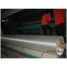30kn Reinforce Rail Road Beds Warping Knitting Fiberglass Geogrids