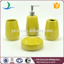 Gelbe ovale keramische Haushaltsprodukte innovativ für Badezimmer Hotel Hausgebrauch