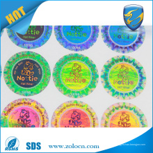 Etiqueta de holograma personalizado, etiqueta de segurança holográfica com número de série transparente