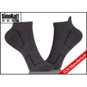 Cool Dark Grey Ankle Custom Athletic Socks , Compression No