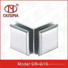 Zink-Legierung doppelte Seite 90 Grad Glas zu Glas Befestigungs-Klemme (CR-G10)