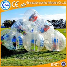 Bola de parachoques TPU comprar / equipo de fútbol burbuja / inflable de fútbol de burbuja