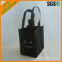 fashion printed non woven wine bottle bags