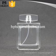 Bouteille de parfum de verre vide transparent 100ml