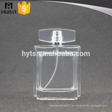 Frasco de perfume de vidro vazio transparente de 100ml