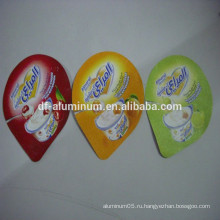 Заводская цена печатная алюминиевая фольга для упаковки йогуртных чашек упаковка с PS / PP