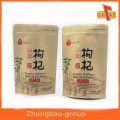Material laminado de encargo de pie de papel kraft resellable bolsas de cierre con cremallera para el café