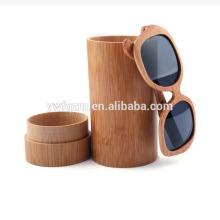 nueva caja de gafas de bambú de marca de diseño personalizado