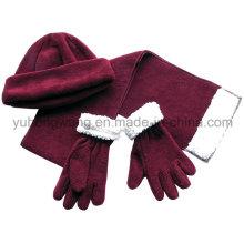 Комплект зимних теплых дамских вязаных полотенец