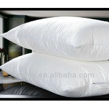 poliéster / tecido de algodão branco macio pato para baixo travesseiro cheio