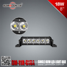 8 Inch 18W Single Row LED Light Bar