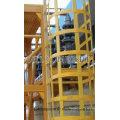 Échelle / échelle de travail de balustrade de FRP / matériau de construction / fibre de verre
