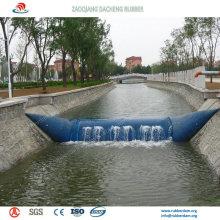 Aire de doble capa y agua que llenan la presa de goma inflable para la irrigación