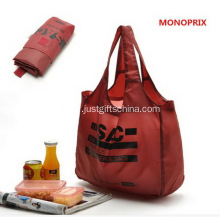Custom Imprinted Folding Polyester Shopping Bags
