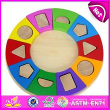2014 nouveaux jouets en bois de puzzle de bloc, jouets en bois de puzzle de bloc de haute qualité, jouets en bois de puzzle de bloc de vente chaude W13A047