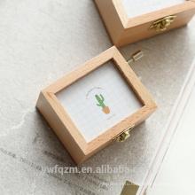 Оптовая причудливый деревянный музыкальная шкатулка рукоятка