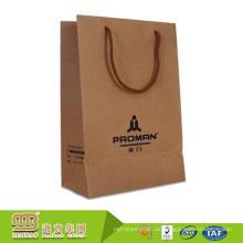 Freie Probe verstärktes kundenspezifisches Logo-Entwurfs-Brown-Kraftpapier-Taschen-Griff-Tasche für das Einkaufen, das verpackt