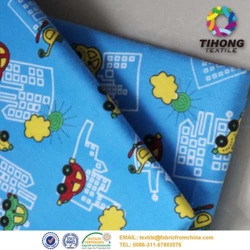 100 cotton printed flannel fabric
