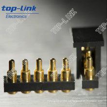 Pogo Pin conector de batería con 5 pines, SMT, cargado de primavera