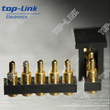 Pogo Pin Batterieanschluss mit 5 Pin, SMT, Federbelastet