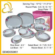 16шт элегантные меламин посуда, посуда