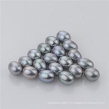Snh Drop Shape Grey Couleur Perles Loose naturelles d'eau douce