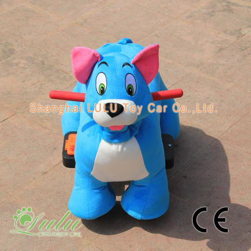 blue battery baby car
