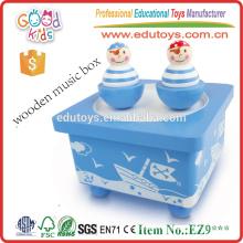 Christmas Gift Lovely Clown Dance Wooden Music Box for Kids